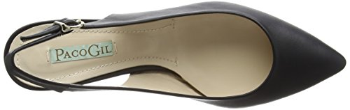 Paco Gil P2648 - Zapatos de Talón Abierto Mujer Negro