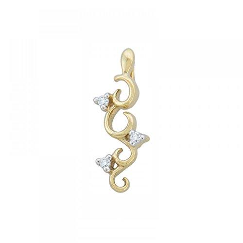 Or Jaune 18 ct Pendentifs Diamant , 0.03 Ct Diamant, GH-SI, 0.9 grammes.