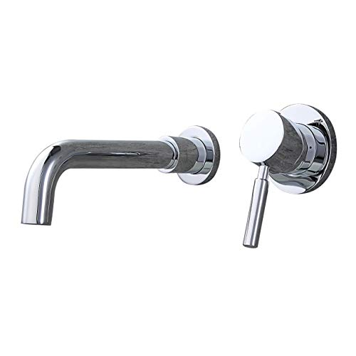JinYuZe Modern H&C Single Handle Bathroom Sink Faucet 2 Hole Wall Mounted, Finished in - Spout Tap C