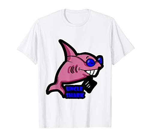 Infant T-shirt Ash - Uncle Shark t-shirt Daddy Mommy Auntie Baby Tee
