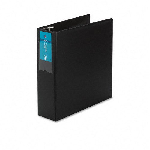Avery : Durable EZ-Turn Ring Binder with Label Holder, 8-1/2 x 11, 3in Capacity, Black -:- Sold as 2 Packs of - 1 - / - Total of 2 Each