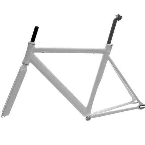 Venzo Track Fixie Road Bike Frame with Fork White 56cm by Venzo (Image #2)