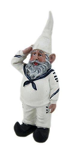 Sailor Gnome in White Uniform Navy Accents Review