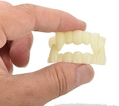 Scary Halloween Party Prop Plastic Luminous Vampire Teeth Joke Toy  R