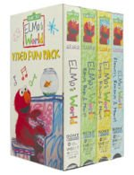 Elmo's World: Video Fun Pack (4-tapes; Flowers Bananas; Singing Drawing; Babies Dogs; Elmo's World, & More) - (closed captioned) [VHS]