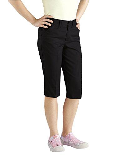 Dickies kp710 Juniors Tab Pocket Capri Pant, Black, (Tab Pocket Capri)