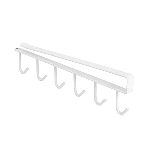 (Cabinet Organizer - Iron Storage Rack 6 Hooks Single Row Hanger Cupboard Cup Bowl Hanging Shelf Holder Bathroom Cabinet - File Mugs For Free Saver Pull The Mdesign Bakeware Mainstay)