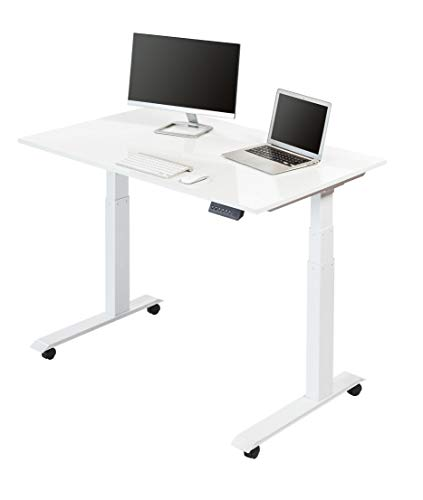 Electric Standing Desks (48 Inches, White Frame/Gloss White Top) ()