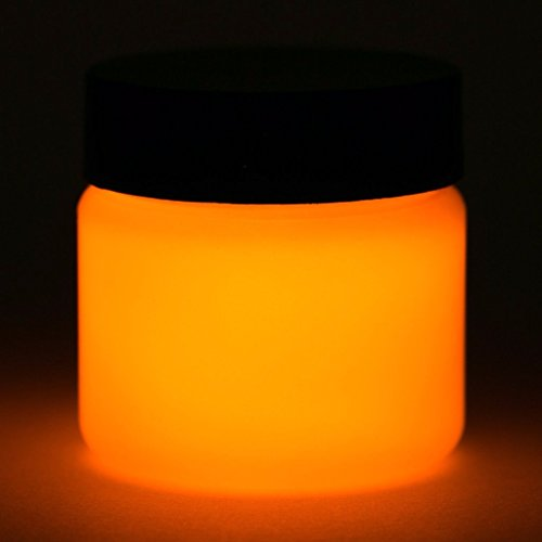 Glow in The Dark Paint - Premium Artist's Acrylic - 1 Ounce (Neutral Orange) - 5+ Colors Available