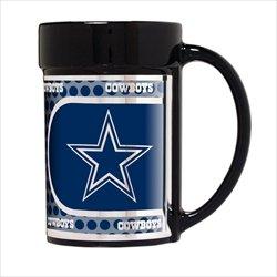 Dallas Cowboys 15 oz Ceramic Coffee Mug with Metallic (Dallas Cowboys Black Coffee Mug)