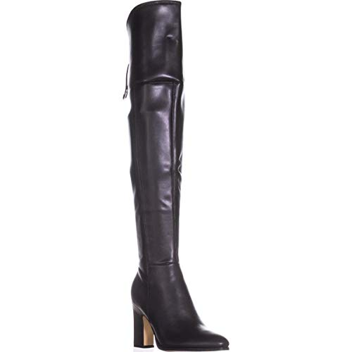 Marc Fisher Womens Neela 2 Leather Closed Toe Over Knee, Black Ll, Size 8.0