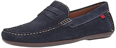 MARC JOSEPH NEW YORK Mens Leather Union Street Driver Driving Style Loafer, Navy Suede, 7 D(M) US