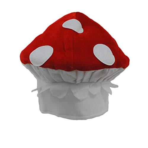 Plush Spotted Red & White Mushroom Novelty Hat ()