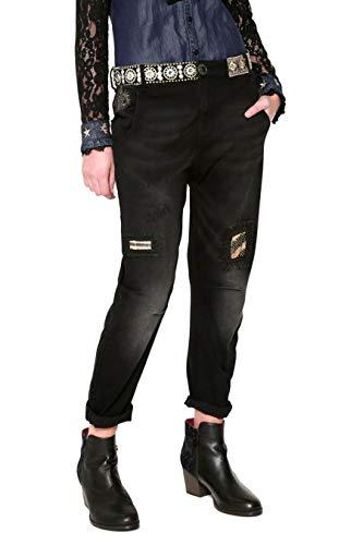 17wwdd34 Black cotone Desigual nero Woman jeans in w5CwrEqX4
