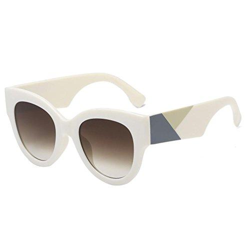 integradas beige Unisex para de Hunpta Negro Mujer con Parches ovaladas Gafas Sol qtPnwx0Tf