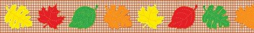 Leaves on Gingham Borders