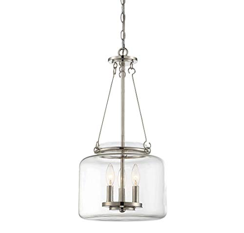 Savoy House 7-9006-3-109 Akron 3-Light Pendant in Polished Nickel