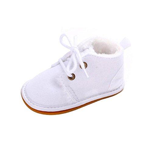Covermason Baby Gummisohle Kleinkind Schuhe Krippe Schuhe Schneestiefel Lauflernschuhe Weiß