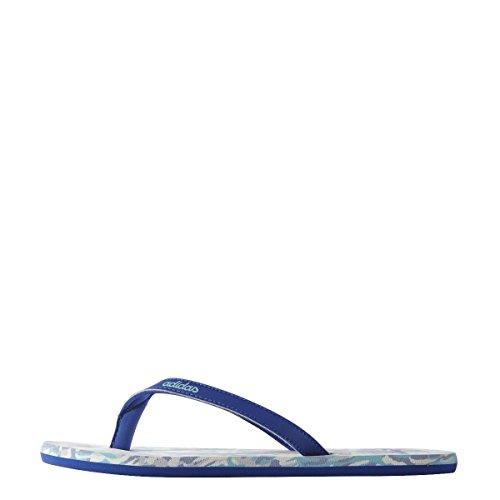 adidas Eezay Marbled W - Chanclas para mujer Blanco / Azul