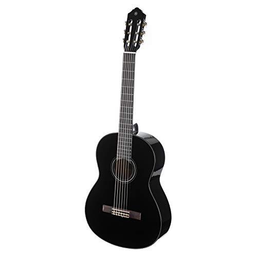 "Yamaha C40 II Guitarra Clásica Guitarra 4/4 de madera, 65 cm 25 9/16"", 6 cuerdas de nylon, Color Negro (Acabado…"