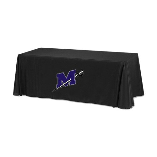 Millsaps Black 6 foot Table Throw 'Official Logo' by CollegeFanGear