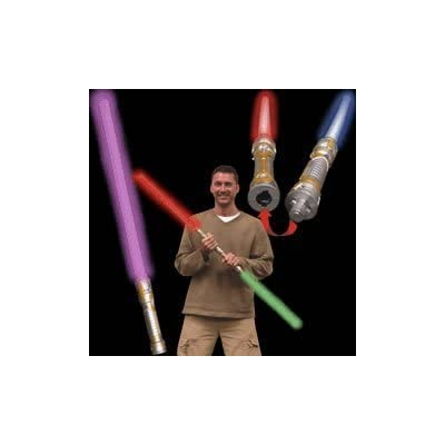 Multicolor Double Bladed Lightsaber - with Free Blinkee Light: Toys & Games