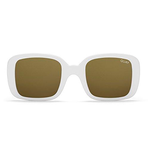 Quay Australia 20's Women's Sunglasses Calssic Chic Square Sunnies - - Sunglasses Australian Gold
