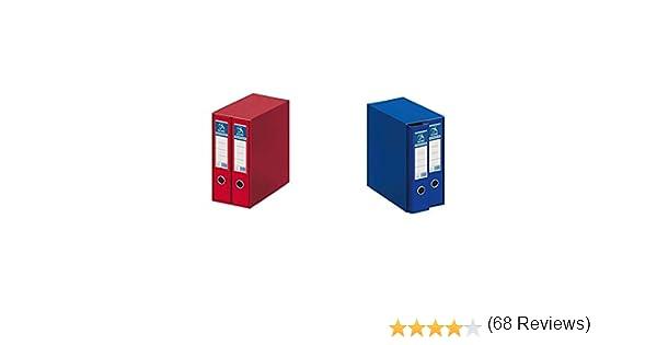 Dohe Archicolor Módulo 2 archivadores A4, color rojo + Archicolor Módulo 2 archivadores A4, color azul: Amazon.es: Oficina y papelería