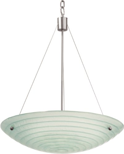 (Kalco 5987SN, Aqueous Large Bowl Pendant, 5 Light, 500 Total Watts, Nickel)