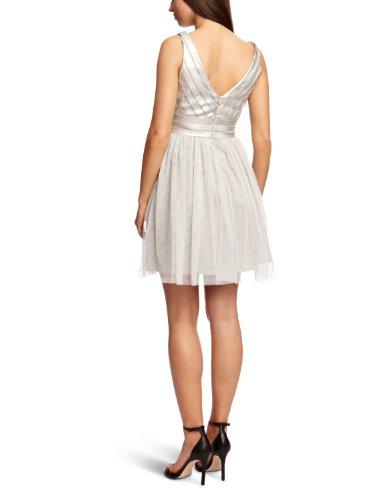 Ohne Arm Grau Opaque Aidan Damen Silver Mattox VNeck Kleid wzqnBfI