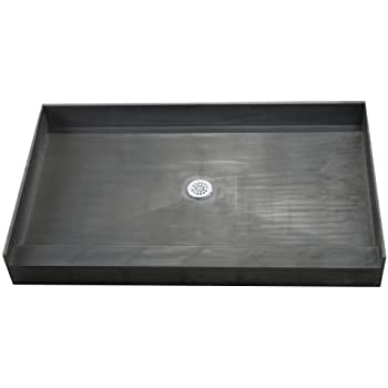 Tile Redi 3448CBO Shower Pan With Integrated Center PVC Drain, 34 Inch  Depth By