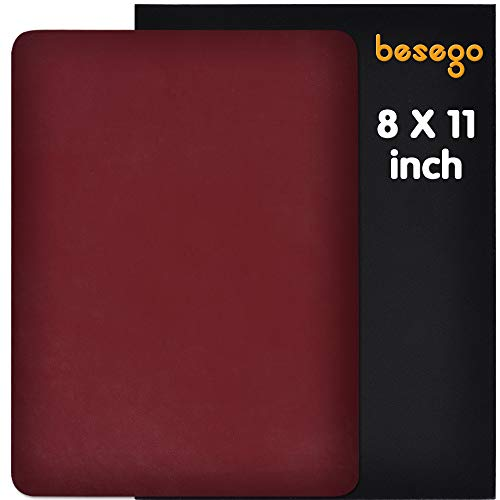 Besego Leather Repair Patch,Leather Adhesive Kit for Sofas, Drivers Seat, Couch, Handbags, Jackets - 8 × 11inch(Wine Red)