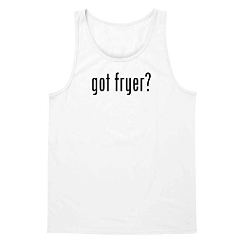 The Town Butler got Fryer? - A Soft & Comfortable Men's Tank Top, White, Medium
