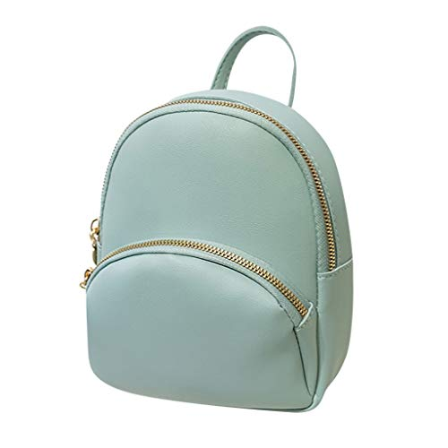 Fashion Lady Shoulders Small Backpack with Headphone Plug Letter Purse Mobile Phone Messenger Bag (Blue)