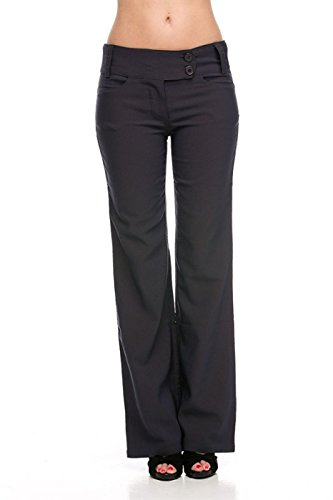 2LUV Women's Sleek and Trendy Tailored Millenium Dress Slacks