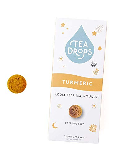 Sweetened Organic Loose Leaf Tea | Instant Turmeric Tea | 10 Handcrafted Best Selling Herbal Tea Drops | Great Gift For Tea Lovers | Delicious Hot or Iced | By Tea Drops