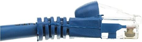 CNE504938 Blue 5 Pack Cat5e Ethernet Patch Cable Snagless//Molded Boot 2 Feet
