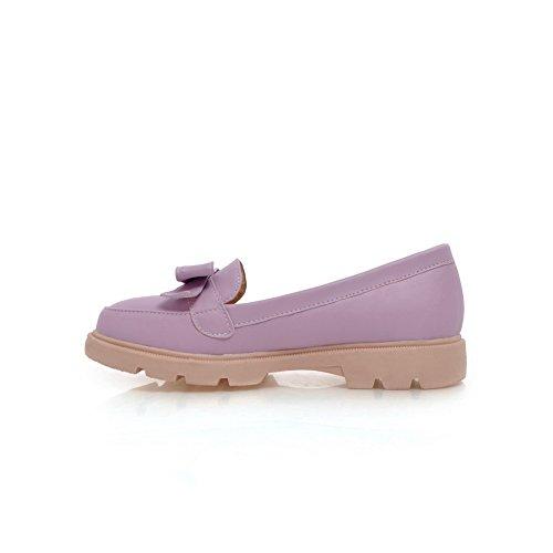 Balamasa Mujeres Bows Talones Cuadrados Plataforma Uretano-zapatos Purple