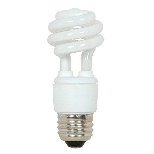 (Satco S7212 9W T2 Ultra Mini Spiral Light Bulb Screw-In 4100K fluorescent bulb)