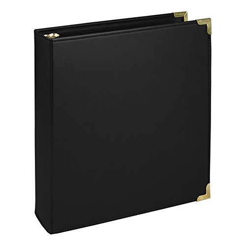 Black Leather Binder (Samsill Classic Collection Executive Presentation Binders, 3 Ring Binder 1.5 Inch ,)