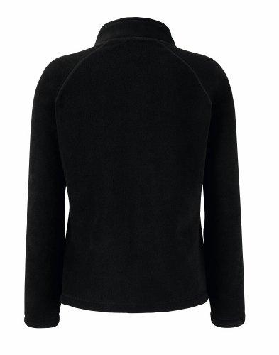 Fruit of the Loom Damen Lady-Fit Fleece-Jacke 62-066-0 Black XL