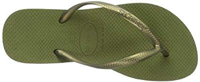 Havaianas Shoes Women's Slim Sandal, camo Green, 37/38 M BR (7/8 US)