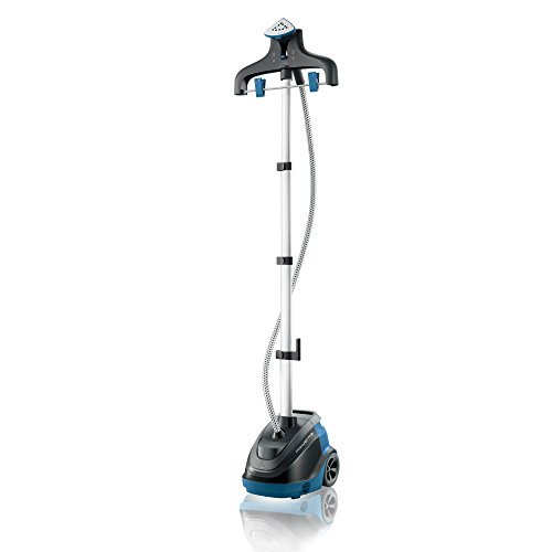 Rowenta IS6520 Master 360 Full Size Garment and Fabric Steamer with Rotating hanger, 1500-Watt, Blue