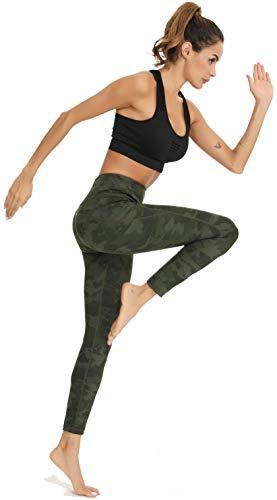 Vlazom Legging de Sport Femme Taille Haute Poches Pantalon de Yoga Leggins Grande Taille Fitness Gym Leggings Femme