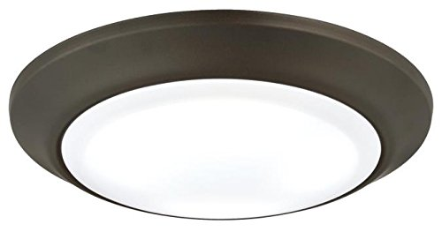 LED Indoor/Outdoor Dimmable Surface Mount Wet Location, Oil Rubbed Bronze Finish with Frosted Lens ()