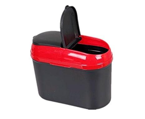 Brand New Mini Car Auto Dustbin Trash Can Garbage Red For Honda