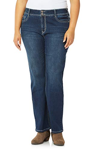 Rhinestone Flare Jean - WallFlower Plus Size Luscious Curvy Bling Bootcut Jeans in Kyle, 22 Plus