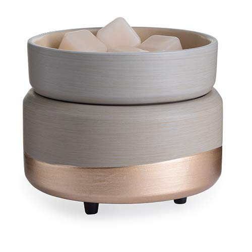 CANDLE WARMERS ETC 2-in-1 Fragrance Warmer for Warming Scented Candles or Wax Melts and Tarts with to Freshen Room, Midas