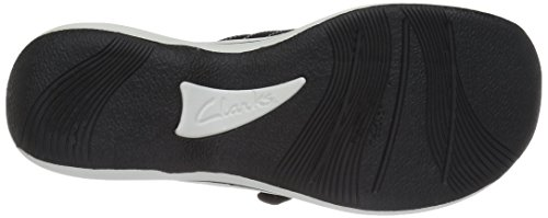 CLARKS Women's Breeze Sea Flip Flop, New Black Synthetic, 8 M US by CLARKS (Image #10)