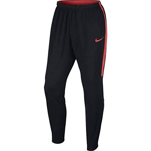 NIKE Mens Dry Academy Football Pant (M, Black/Black/Light Crimson/Light Crimson)